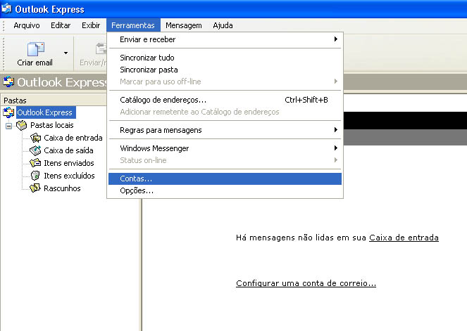 Configurar MS Outlook 1