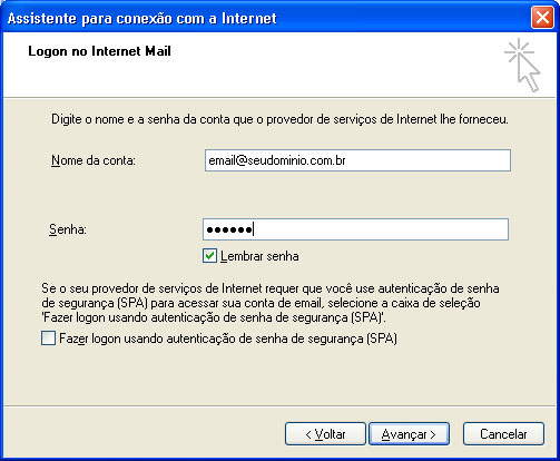 Configurar MS Outlook 6