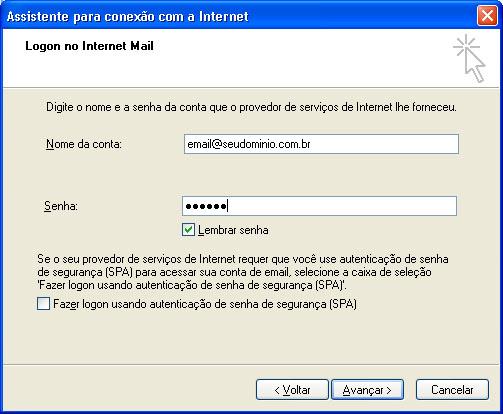 Configurar MS Outlook 6